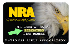 can t locate your nra member id